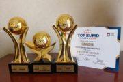 BPR Syariah Kota Bandar Lampung Raih Penghargaan TOP BUMD 2020